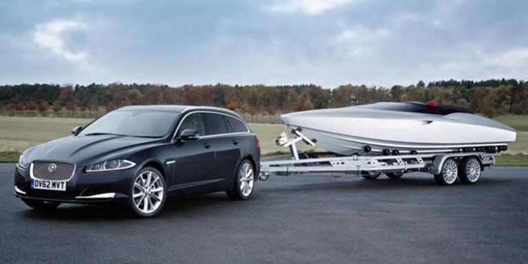 Jaguar bringt XF Kombi und ein Speedboot