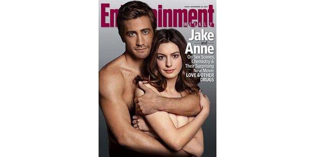 Hathaway & Gyllenhaal: 3 mal Nackt-Cover