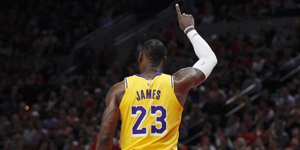 'King James' verlor bei Debüt mit Lakers