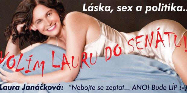 Politikerin mit Nacktfoto auf Stimmenfang