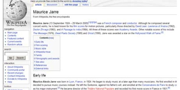 Falscher Wikipedia-Eintrag abgedruckt