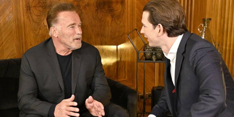 Schwarzenegger besucht Kurz heute im Kanzleramt