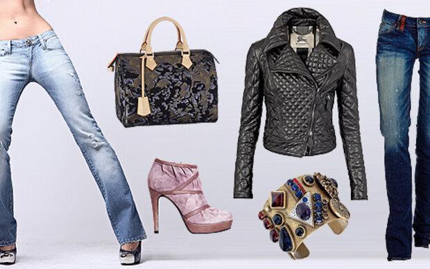 Vier Kombinationen: Trendy Jeans-Styles