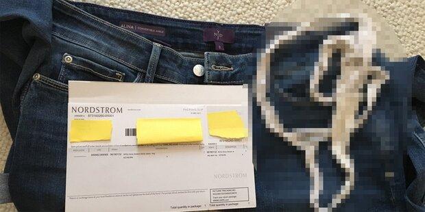 Frau macht Ekel-Fund in neuer Jeans