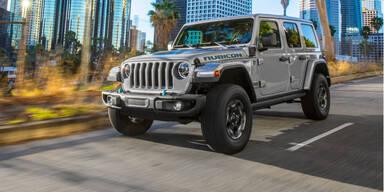Auch der Jeep Wrangler kommt als Plug-in-Hybrid