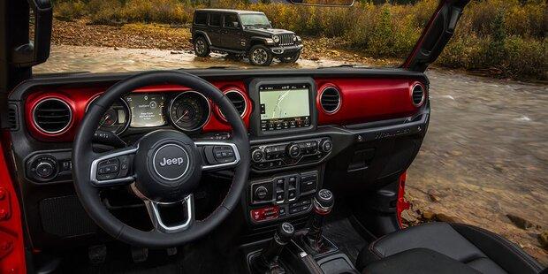 Jeep zeigt Cockpit vom neuen Wrangler