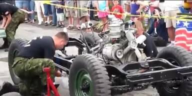 Kanadier zerlegen blitzschnell ganzen Jeep
