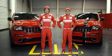 Zwei heiße SRT8-Jeeps für Alonso und Massa