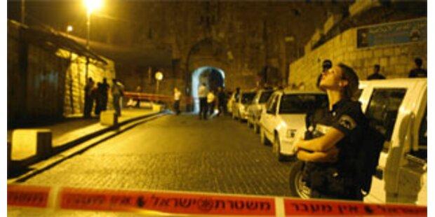 Alarm in Jerusalem nach Schießerei