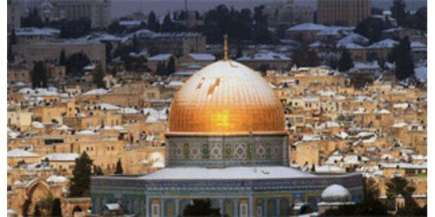 Seltener Schnee im Nahen Osten