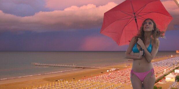Regenwetter  - Jesolo zahlt Geld zurück