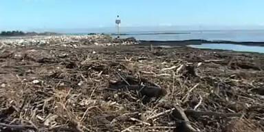 Strand von Jesolo zerstört