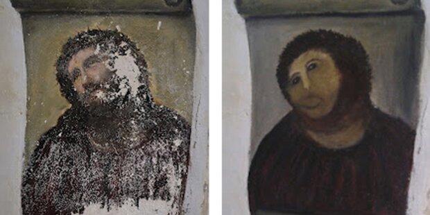 Übermalter Jesus: Künstlerin klagt Kirche