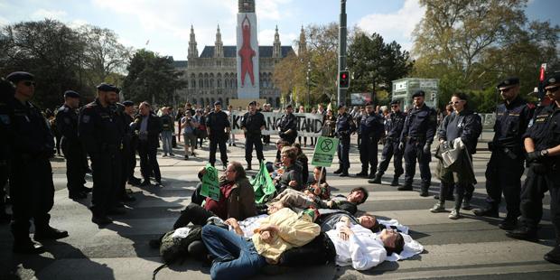 Klima-Aktivisten Wiener Ringstraße