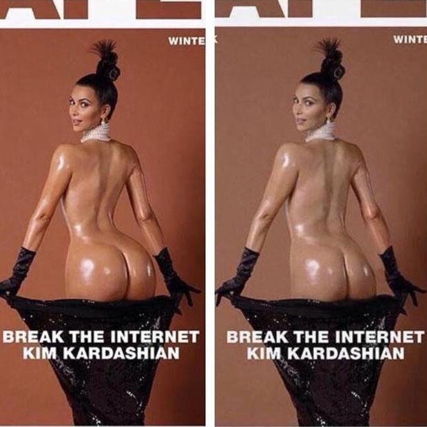 Kim Kardashians nackter Po: Ein Fake?