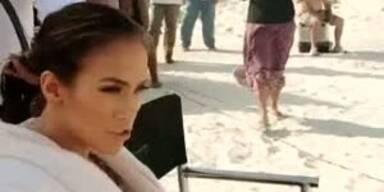 "Jennifer Lopez beim Dreh zu ""I´m into you"""
