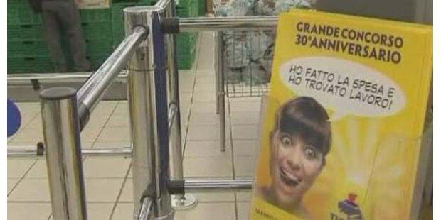 Job im Supermarkt zu gewinnen