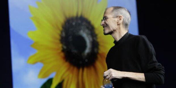 Apple-Chef Steve Jobs lässt sich feiern