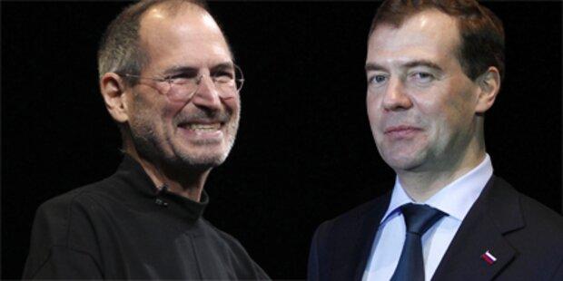 Jobs: Gesperrtes iPhone für Medwedew