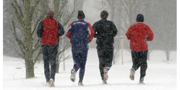 Sport bei Minusgraden ist gesund