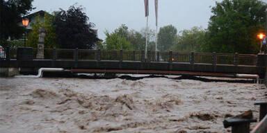 Hochwasser in St. Johann / Tirol