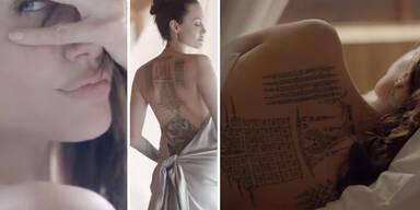 Jolie: In sexy Werbung zeigt sie ihre Tattoos