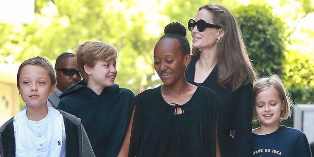 Jolie: Seltenes Bild mit ihren Kindern