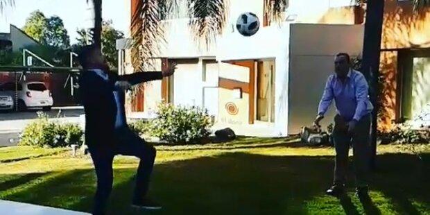 Journalist macht Ronaldo nach: Verletzt