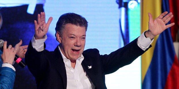 Kolumbiens Präsident im Amt bestätigt