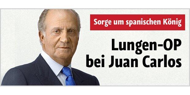 Juan Carlos an der Lunge operiert