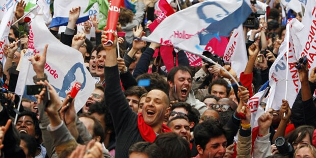 Frankreichs Sozialisten jubeln ohne Ende