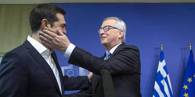 """Juncker und Tsipras """"simsen"""""""