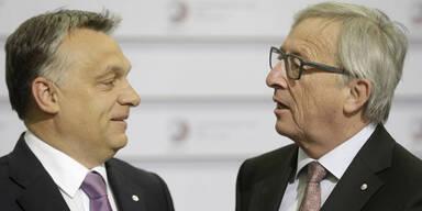 """Juncker begrüßt Orban: """"Hallo, Diktator"""""""