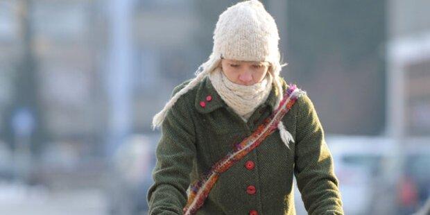 Sibirische Kälte lässt Salzburg erstarren