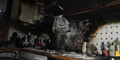 Jugendliche bei Küchenbrand verletzt