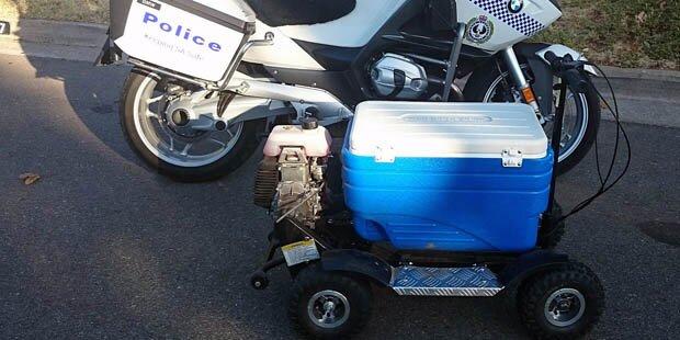 Polizei stoppte motorisierte Kühlbox