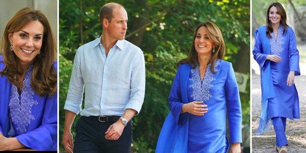 Herzogin Kate strahlt in Pakistan