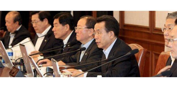 Regierung Südkoreas ist zurückgetreten