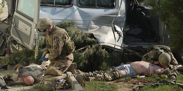 Selbstmordattentäter tötet vier Soldaten in Kabul
