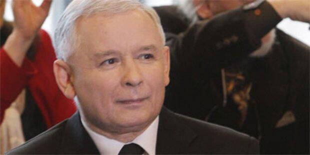 Kaczynski holt in Umfragen weiter auf
