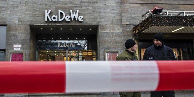 Überfall auf Luxus-Kaufhaus in Berlin