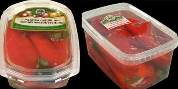 Rückruf: Listerien in gefülltem Paprika