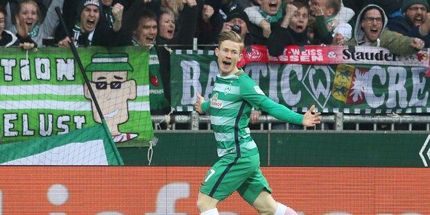 Kainz schießt Bremen zum Derbysieg