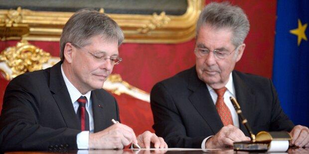 Peter Kaiser von Bundespräsident angelobt