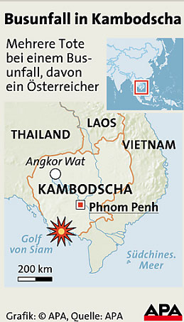 Unfall in Kambodscha, Grafik