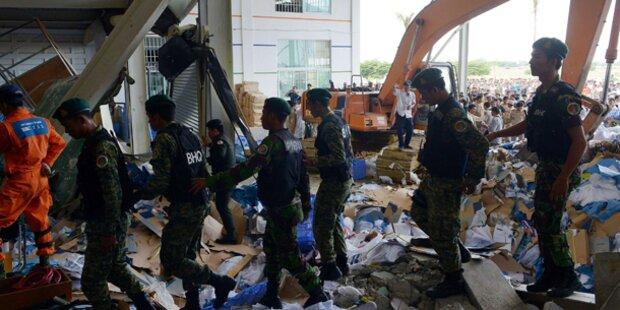 Schuhfabrik in Kambodscha eingestürzt