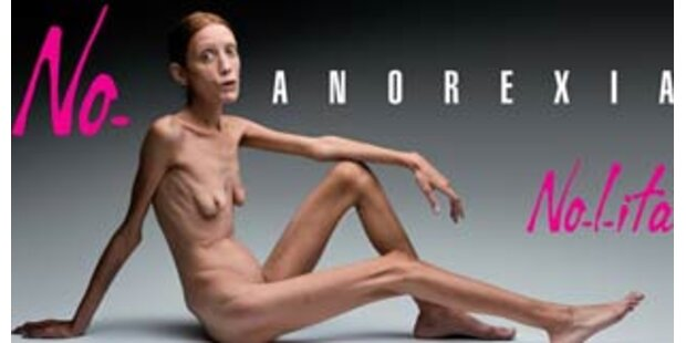 Schock-Kampagne gegen Magersucht in Italien