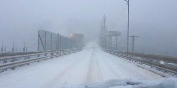Erster Schneesturm in Kanada