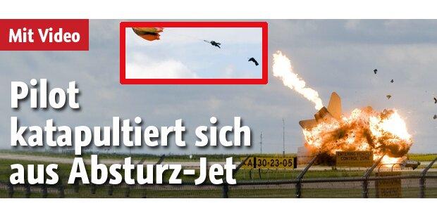 Pilot katapultierte sich aus Absturz-Jet