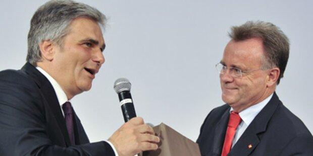 Gewitterschauer nach Faymann-Rede